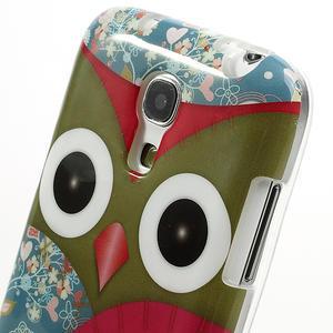 Gélové puzdro pre Samsung Galaxy S4 mini i9190- sova červená - 4