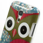 Gélové puzdro pre Samsung Galaxy S4 mini i9190- sova červená - 4/5