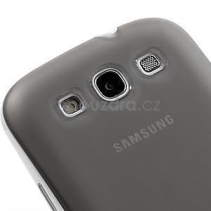 Gélové rámované puzdro pre Samsung Galaxy S3 i9300- šedé - 4