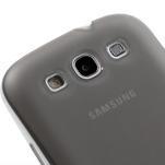 Gélové rámované puzdro pre Samsung Galaxy S3 i9300- šedé - 4/7