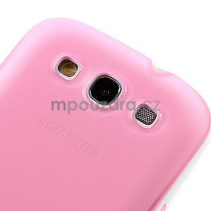 Gélové rámované puzdro pre Samsung Galaxy S3 i9300- ružové - 4