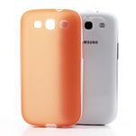 Gélové rámované puzdro pre Samsung Galaxy S3 i9300- oranžové - 4/7