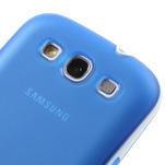 Gelové rámované pouzdro na Samsung Galaxy S3 i9300- modré - 4/6