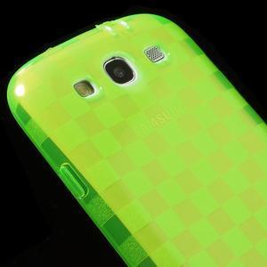 Gélové koskaté puzdro na Samsung Galaxy S3 i9300- zelené - 4