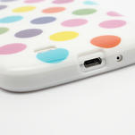 Gélové Puntík puzdro na Samsung Galaxy S4 i9500- bílofarebné - 4/5