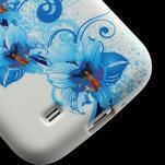 Gelové pouzdro pro Samsung Galaxy S4 i9500- modrá Lilie - 4/6