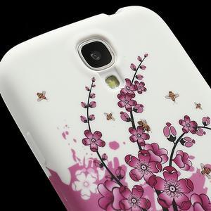 Gélové puzdro pro Samsung Galaxy S4 i9500- kvitnúca slivka - 4