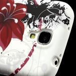 Gelové pouzdro pro Samsung Galaxy S4 i9500- červený květ - 4/7