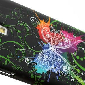 Gélové puzdro pro Samsung Galaxy S4 i9500- farebný motýl - 4