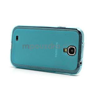 Gélové matné puzdro na Samsung Galaxy S4 i9500- modré - 4