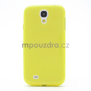 Gélové slim puzdro na Samsung Galaxy S4 i9500- žlté - 4