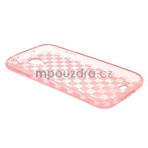 Gelpvé kosočvercové puzdro pre Samsung Galaxy S4 i9500- ružové - 4