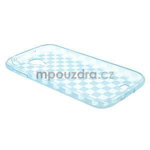 Gélové kosočvercové puzdro pre Samsung Galaxy S4 i9500- modré - 4
