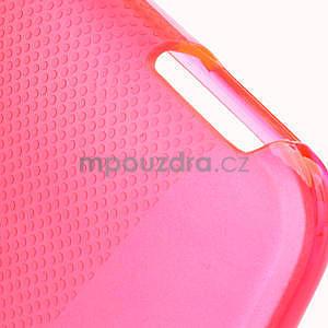 Gélové X-line puzdro pre HTC one Mini M4- ružové - 4