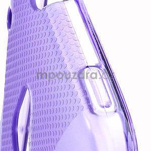 Gélové X-line puzdro pre HTC one Mini M4- fialové - 4
