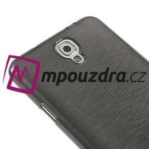 Gélové kartáčované puzdro pre Samsung Galaxy Note 3- čierné - 4