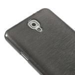 Gélové kartáčované puzdro pre Samsung Galaxy Note 3- čierné - 4/5