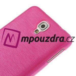 Gélové kartáčované puzdro na Samsung Galaxy Note 3 Neo- růžové - 4