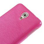 Gélové kartáčované puzdro na Samsung Galaxy Note 3 Neo- růžové - 4/5