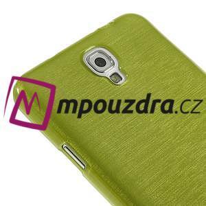 Gélové kartáčované puzdro na Samsung Galaxy Note 3- zelené - 4