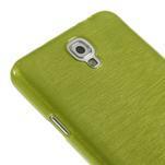 Gélové kartáčované puzdro na Samsung Galaxy Note 3- zelené - 4/5