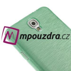 Gélové kartáčované puzdro pre Samsung Galaxy Note 3 Neo- cyan - 4