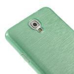 Gélové kartáčované puzdro pre Samsung Galaxy Note 3 Neo- cyan - 4/4