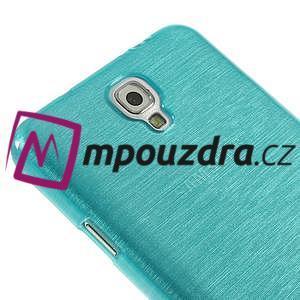 Gélové kartáčované puzdro pre Samsung Galaxy Note 3- modré - 4