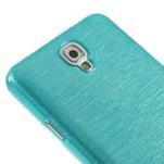 Gélové kartáčované puzdro pre Samsung Galaxy Note 3- modré - 4/5