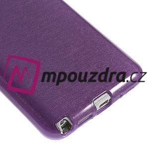 Gélové kartáčované puzdro na Samsung Galaxy Note 3- fialové - 4