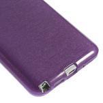 Gélové kartáčované puzdro na Samsung Galaxy Note 3- fialové - 4/5