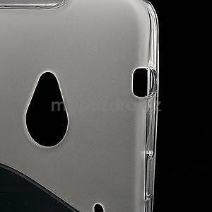 Gélové S-line puzdro pre HTC one M7- transparentný - 4