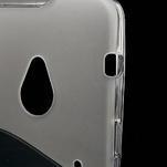 Gélové S-line puzdro pre HTC one M7- transparentný - 4/7