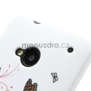 Gélové puzdro pre HTC one M7- farebné motýli - 4