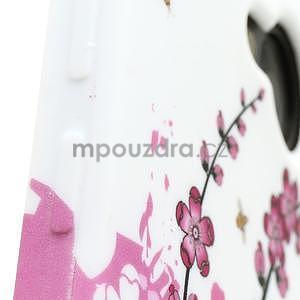 Gélové puzdro pre HTC one M7- kvetoucí větev - 4