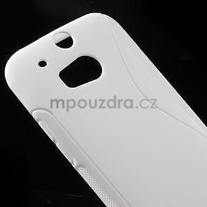 Gélové S-line puzdro pre HTC one M8- biele - 4