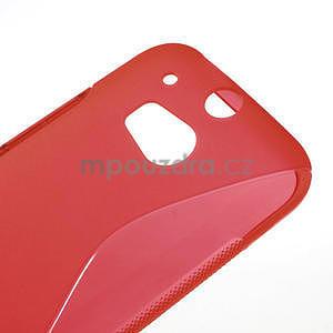 Gélové S-line puzdro pre HTC one M8- červené - 4