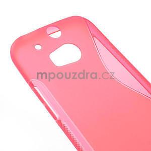 Gélové S-line puzdro pre HTC one M8- ružové - 4