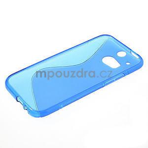 Gélové S-line puzdro pre HTC one M8- modré - 4