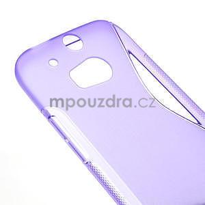 Gélové S-line puzdro pre HTC one M8- fialové - 4