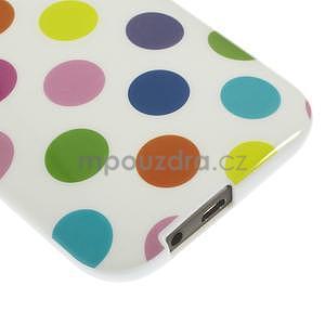 Gélové-PUNTÍKY puzdro pre HTC one M8- bílofarebné - 4