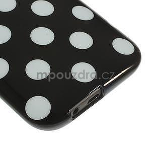 Gélové-PUNTÍKY puzdro pre HTC one M8- biele - 4