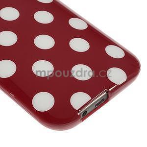 Gélové-PUNTÍKY puzdro pre HTC one M8- červené - 4
