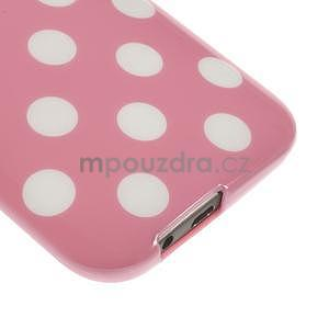 Gélové-PUNTÍKY puzdro pre HTC one M8- růžové - 4