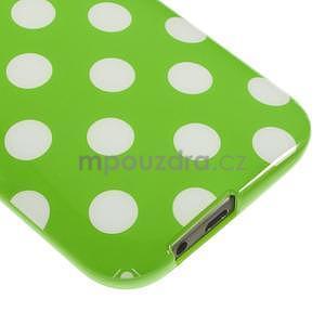 Gélové-PUNTÍKY puzdro pre HTC one M8- zelené - 4