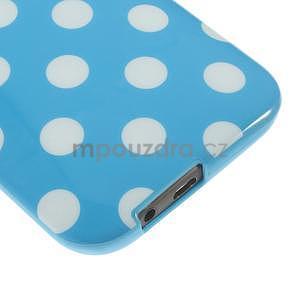 Gélové-PUNTÍKY puzdro pre HTC one M8- modré - 4