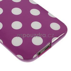 Gélové-PUNTÍKY puzdro pre HTC one M8- fialové - 4