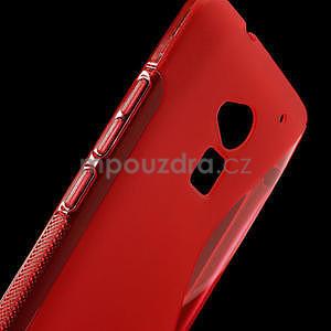 Gélové S-line puzdro pre HTC one Max-červené - 4
