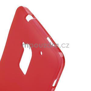 Gélové matné puzdro pre HTC one Max- červená - 4