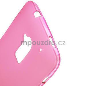 Gélové matné puzdro pre HTC one Max- růžové - 4
